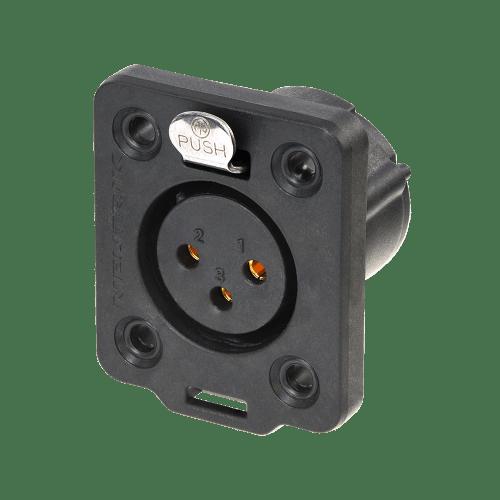 Neutrik XLR TOP 3 pin female chassis connector