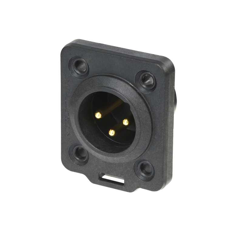 Neutrik XLR TOP 3 pin male chassis connector