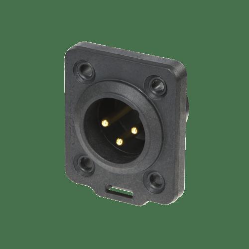 Neutrik XLR TOP 3 pin male chassis connector
