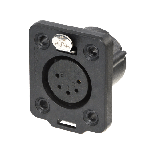 Neutrik XLR TOP 5 pin female chassis connector