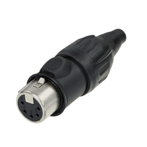 Neutrik XLR TOP 5 pin female cable connector