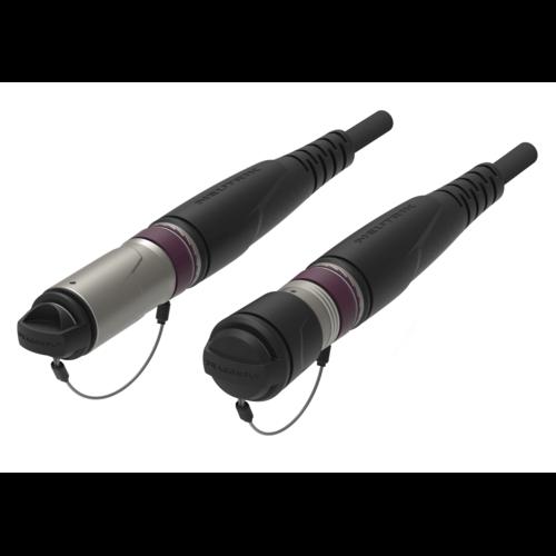 SMPTE fiber cable assembled with camera connectors..
