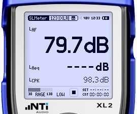 XL2 Sound Level Meter example