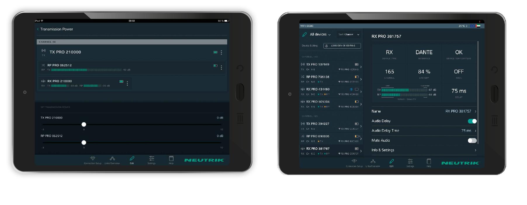 XiriumPro app tablet