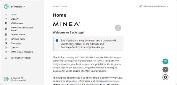 Neutrik MINEA MILAN Online Portal